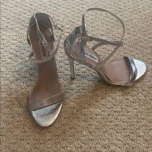 Steve Madden silver heels